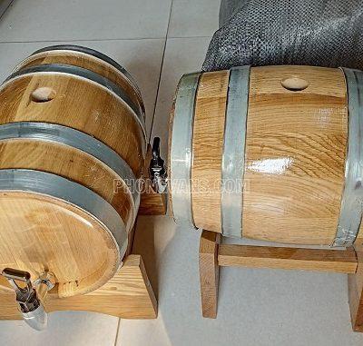 Thùng gỗ sồi đựng rượu 5 lít