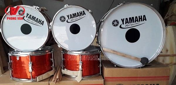Trống đội Yamaha inox màu đỏ