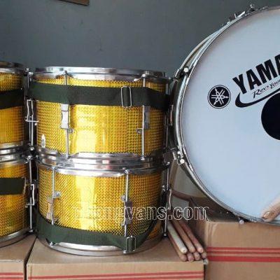 Trống đội inox Yamaha màu vàng