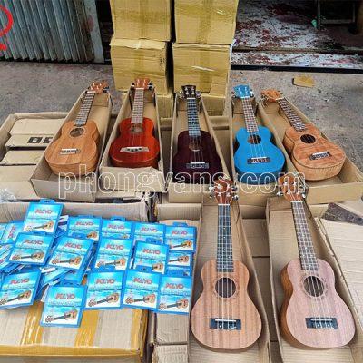 Bán sỉ đàn ukulele gỗ và dây đàn
