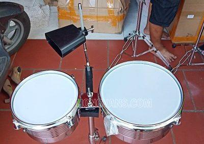 Cặp trống tum inox chơi trống jazz