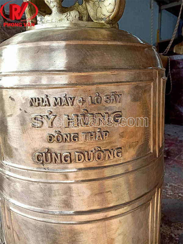 Chuông đồng đại hồng chung nặng 250 kg