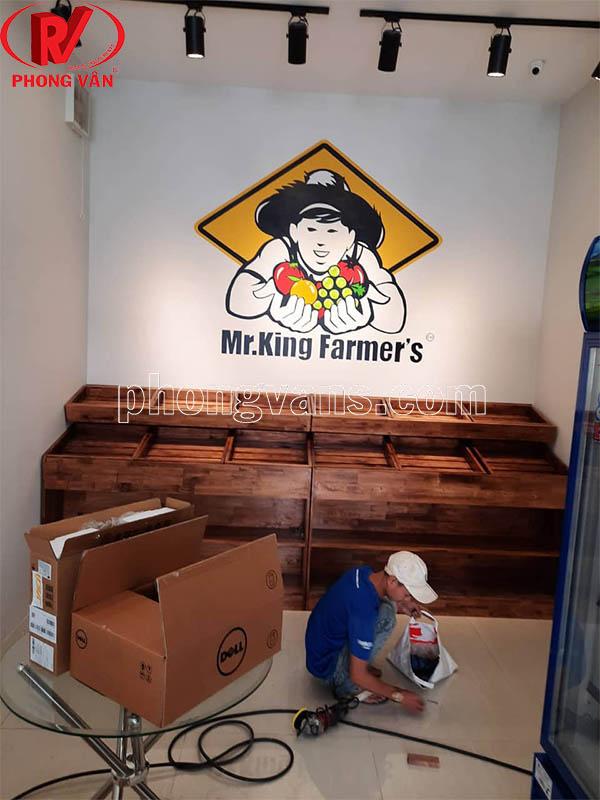 Cơ sở sản xuất kệ trưng bày trái cây gỗ
