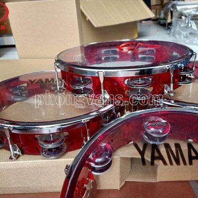 Trống tambourine lắc tay cao cấp màu đỏ xanhdata-cloudzoom =