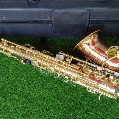 Kèn Saxophone alto hãng Mendini by Cecilio 3 màu loa đỏ