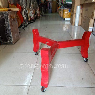 Chân giá để trống gỗ 3 chân bánh xe