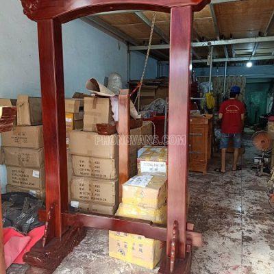Giá kệ treo chuông đồng 300 kg gỗ căm se