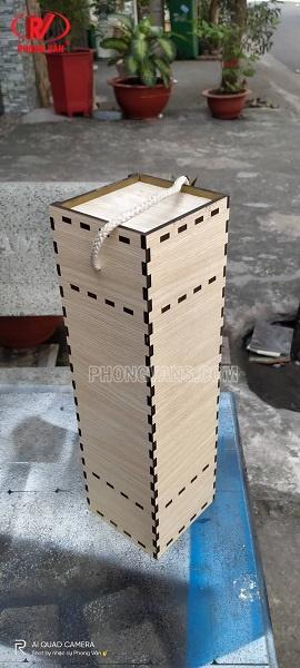 Hộp gỗ đựng chai rượu vang