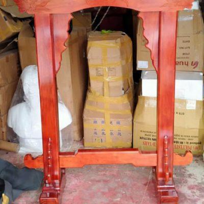 Kệ gỗ treo chuông đồng 80cm