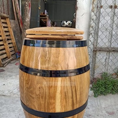 Bán thùng gạo 30 kg gỗ sồi