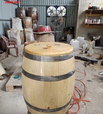 Thùng đựng gạo 30kg bằng gỗ thông