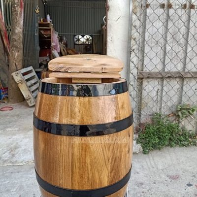 Thùng đựng gạo gỗ sồi 10 kg
