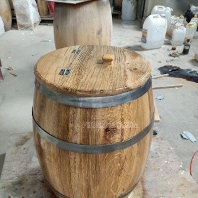 Thùng đựng gạo gỗ sồi 50 kg