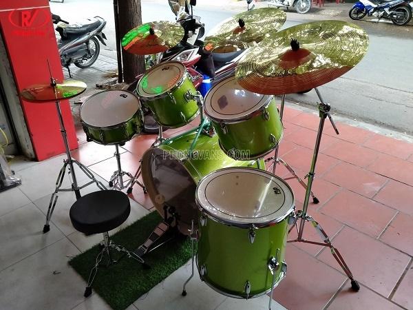Bán bộ trống nhạc jazz cơ Dw drums xanh lá