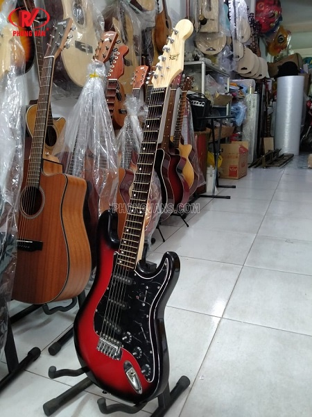 Đàn guitar điện cổ phím lõm loại trung