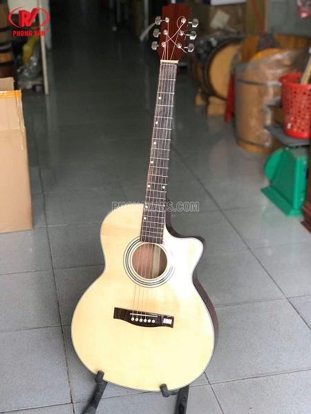 Đàn guitar gỗ hồng đào có ty chỉnh cần HDJ100