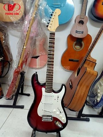 Đàn guitar vọng cổ điện phím lõm màu đỏ