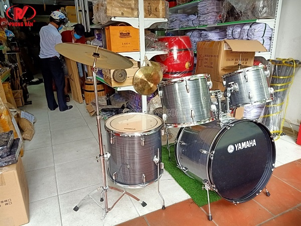 Dàn trống jazz Yamaha màu xám sọc