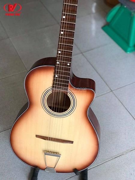 Đờn guitar cổ thùng phím lõm gỗ hồng đào