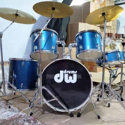Dàn trống Jazz Dw màu xanh sọc