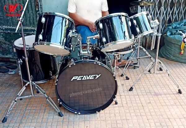 Dàn trống nhạc Peavey màu đen 7 trống 3 cymbal