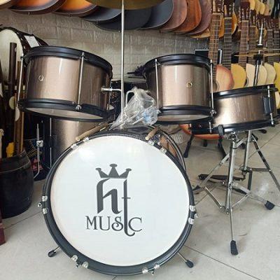 Bộ trống jazz cho bé tập HT music màu đồng