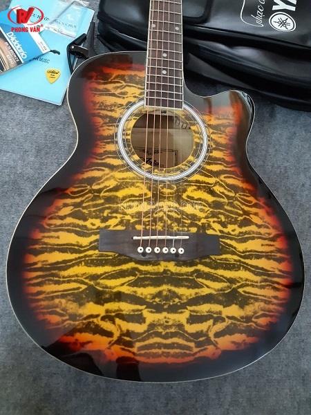 Đàn guitar acoustic Aria màu vàng
