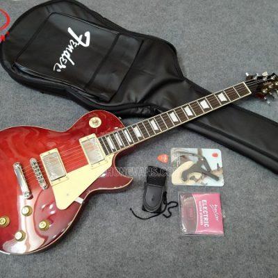 Đàn guitar điện solo hãng Babilon màu đỏ tươi
