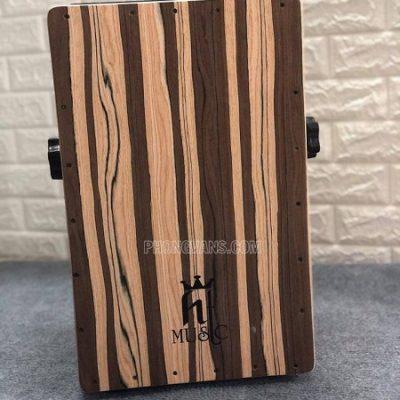 Trống cajon gỗ thông gắn EQ hiệu HT music