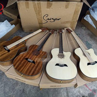 Bán sỉ đàn guitar acoustic hãng Saiger gỗ walnut EQ