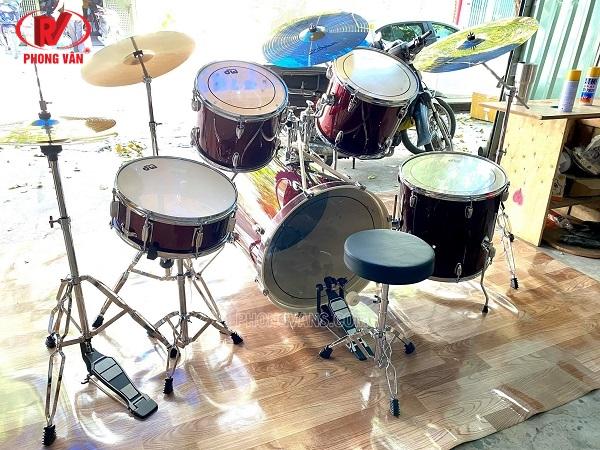 Bộ trống jazz Dw drums đỏ mận đẹp