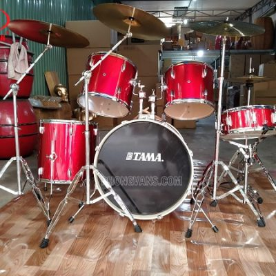 Giá trống jazz Tama drum 5 trống đỏ tươi