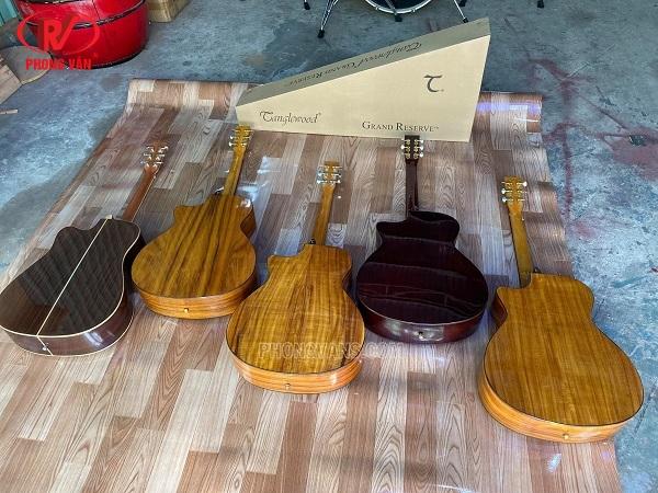 Bán sỉ lẻ đàn guitar acoustic Tanglewood gỗ Koa cẩm ấn
