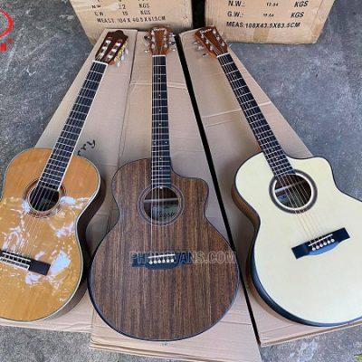 Bán sỉ đàn guitar Tayste gỗ walnut và Classic Kaysen gỗ cẩm ấn