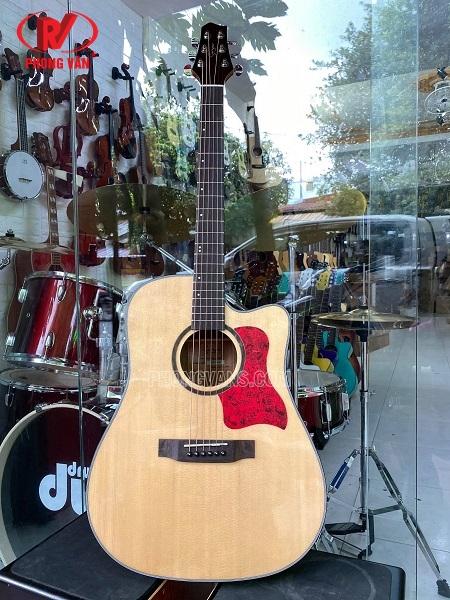Đàn guitar acoustic gỗ cẩm ấn hãng Saiger