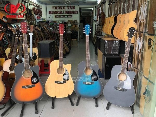 Đàn guitar thùng hãng Fender CD60C có EQ LC5 micro