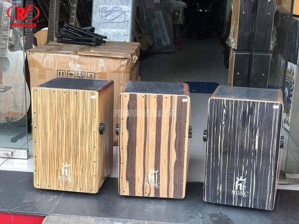 Bán Sỉ trống cajon drum gỗ cẩm sồi gắn EQ Htmusic