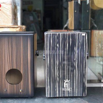 Trống cajon gỗ cẩm gắn EQ  mặt đẹp hãng HT music