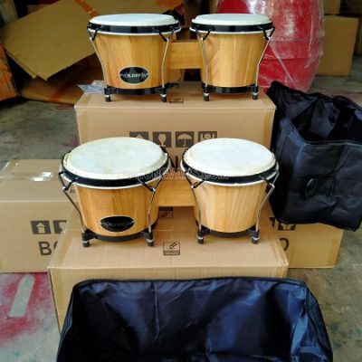 Bán sỉ lẻ cặp trống Bongo gỗ 7in 8in