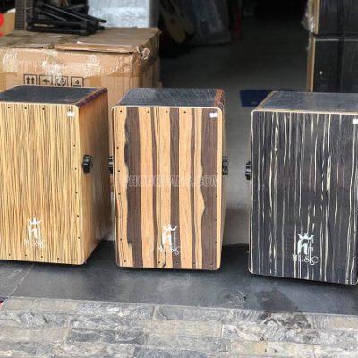 Trống cajon gỗ sồi gắn EQ hãng HT music