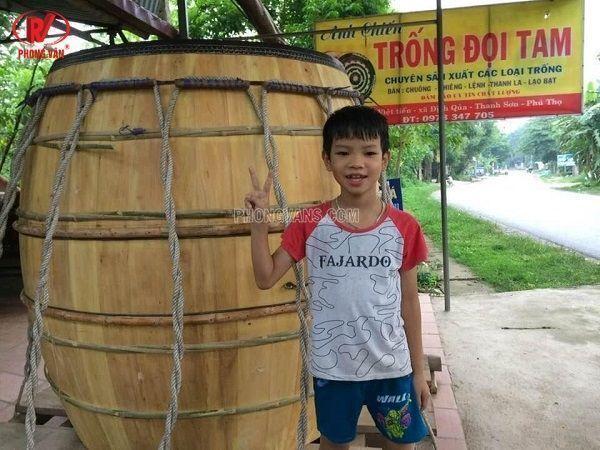 Cơ sở sản xuất trống gỗ Anh Chiến tại tỉnh Phú Thọ