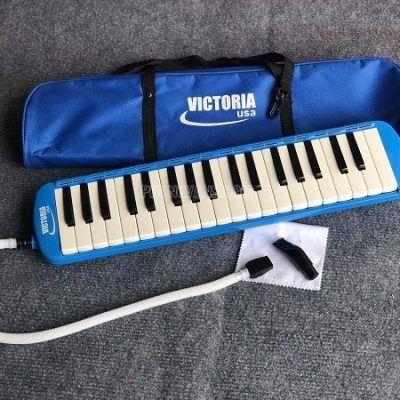 Kèn melodica Victoria  37 phím màu xanh hồng