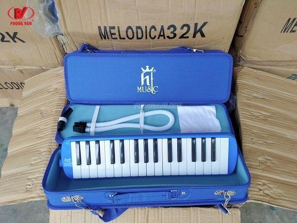 Bán sỉ Kèn Melodica HT MUSIC 32 phím màu xanh