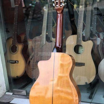 Đàn guitar classic gỗ còng cườm dáng khuyết cao cấp