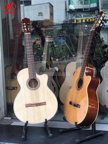 Đàn guitar classic gỗ hồng đào dáng khuyết