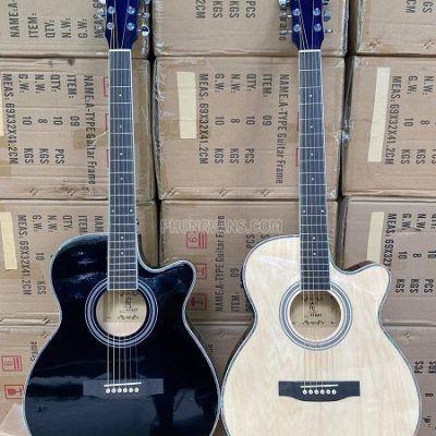 Bán sỉ đàn guitar acoustic thùng mỏng gắn EQ 7545 HT MUSIC